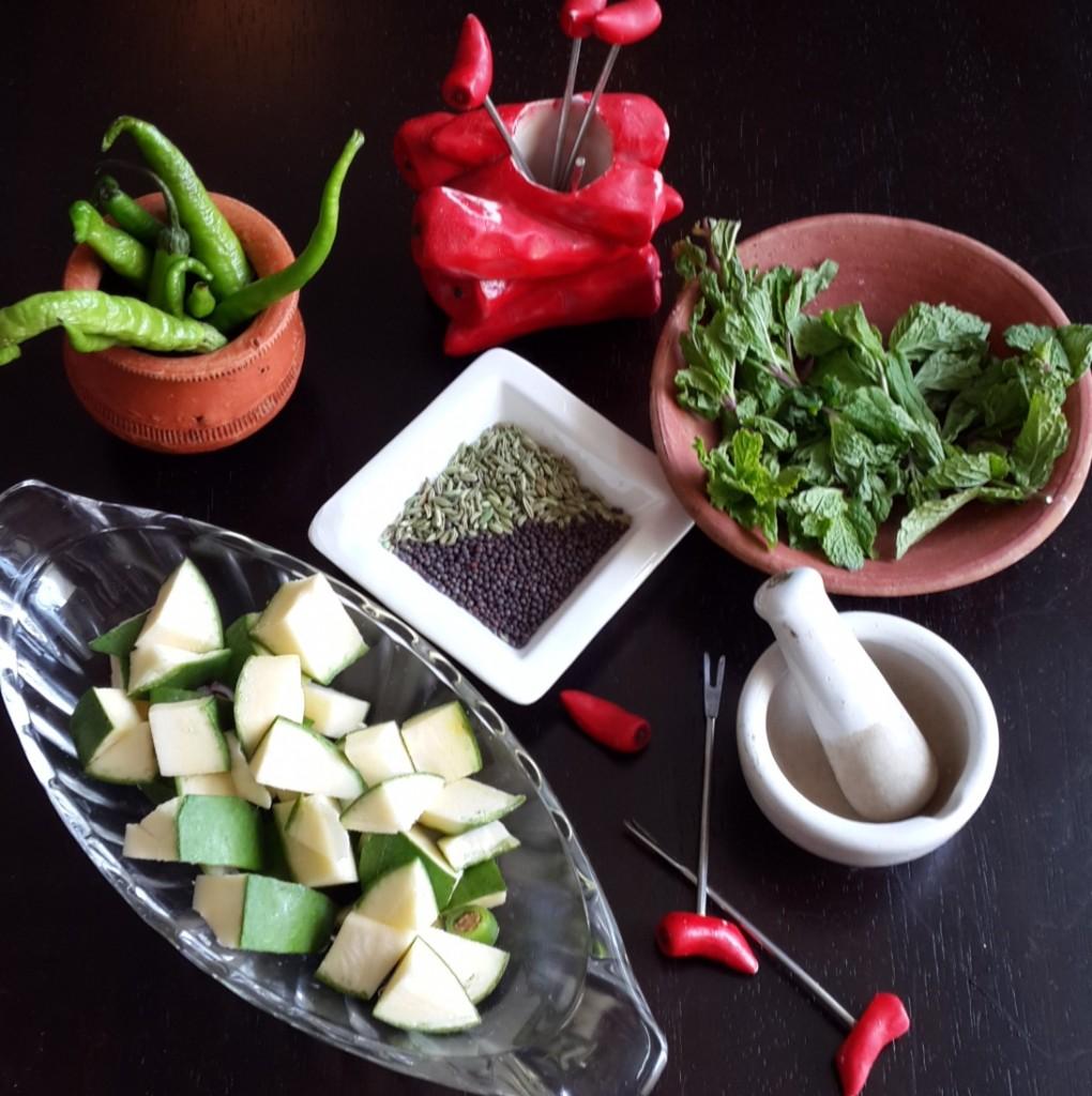 Raw Mango Pickle Ingredients