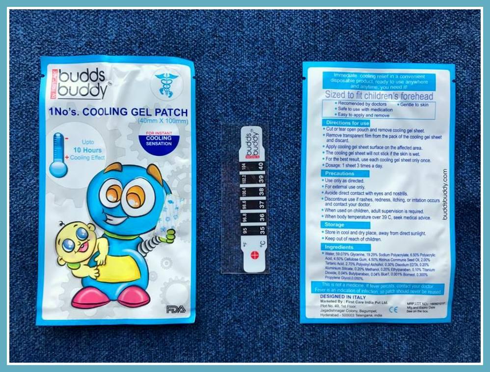 buddsbuddy cooling gel patch