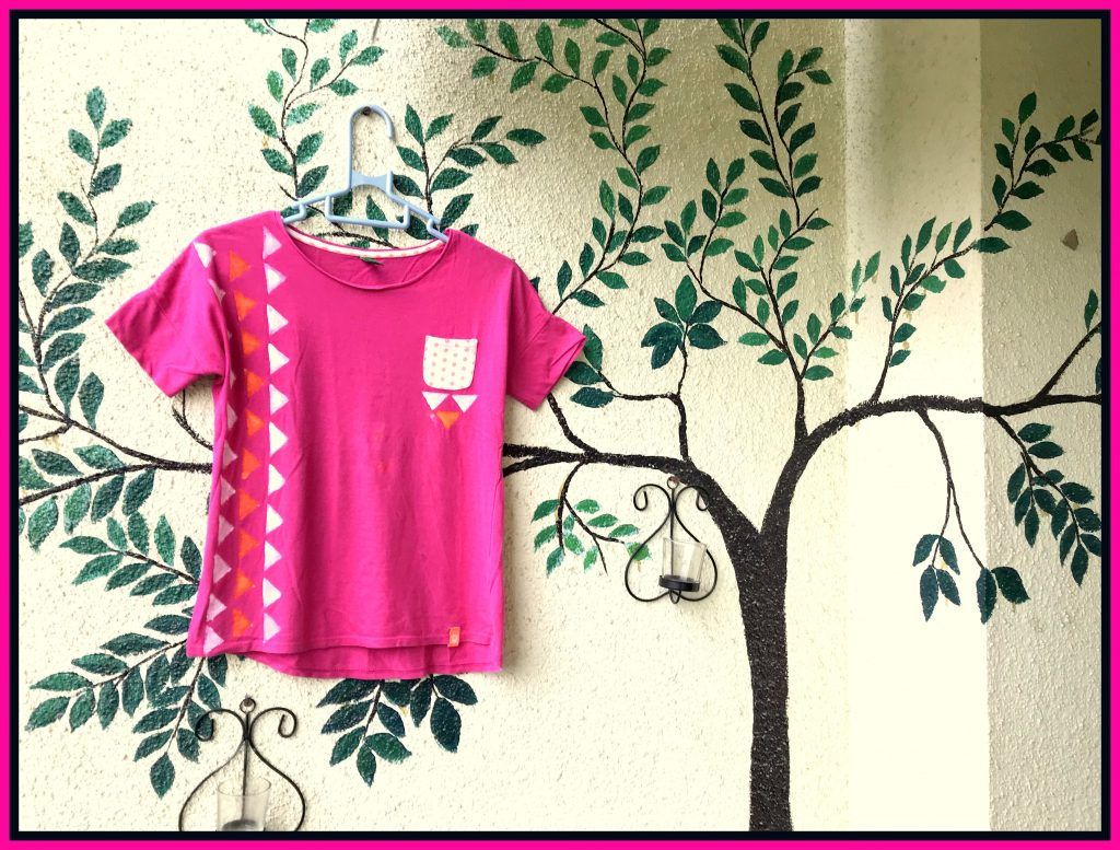 T shirt Painting by Fevicryl Fabric Colour