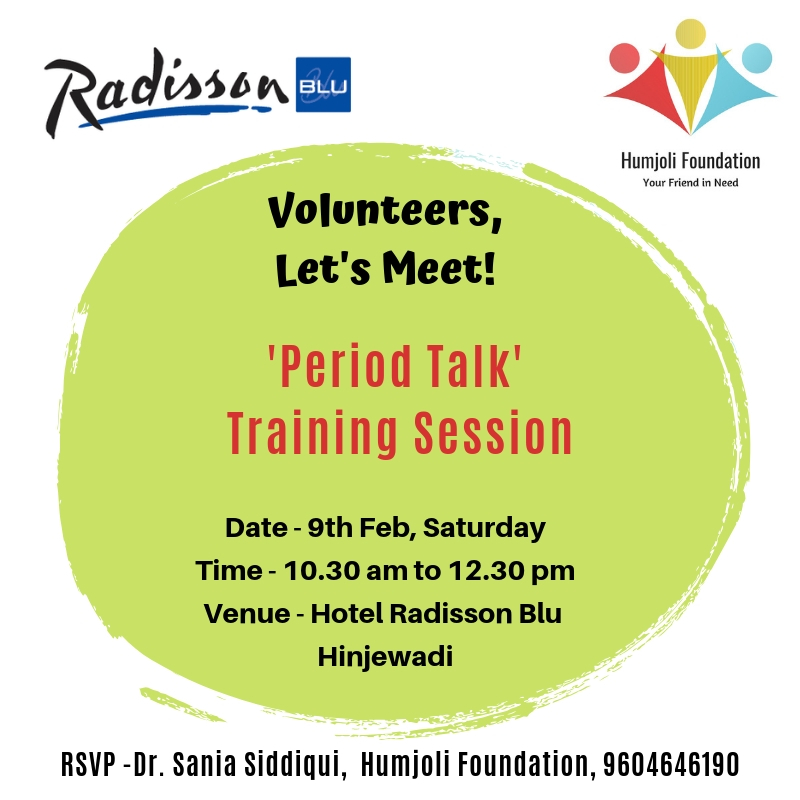 period talk volunteer meet humjoli foundation